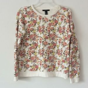 Forever 21 floral pullover sweatshirt. Size Small